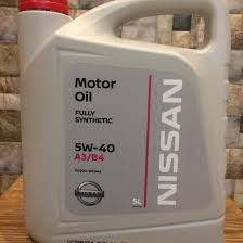 <b>Масло моторное Nissan</b> Genuine <b>Motor Oil</b> 5W-40 A3/B4 синт. API ...