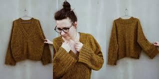 Модный пуловер Boxy <b>V</b>-<b>neck</b> - Вяжи.ру