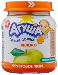 <b>Пюре Агуша</b> яблоко (с 4 месяцев) 115 г, 1 шт. — купить по ...