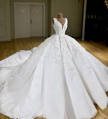 2019 Super Ball Gown <b>Real Images</b> Wedding Dresses V Neck ...