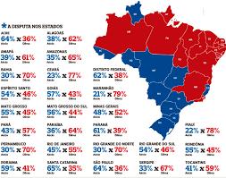Resultado de imagem para mapa das eleições presidenciais 2014