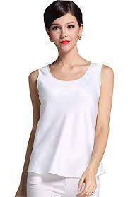 <b>Fashion Silk Women's Shirts Blouse Silk</b> Tank <b>Tops</b> at Amazon ...