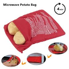 <b>1PC</b> Washable <b>Microwave Potato Bag Baked Potato</b> Pack For Oven ...