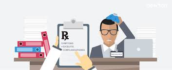 signs you need an ats newton software a sick recruiter sits at his desk a thermometer and an rx prescription paper calling