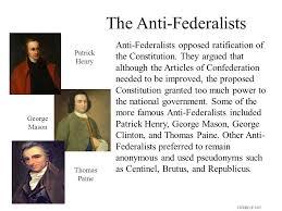 federalist and anti federalist essay  wwwgxartorg federalist vs anti federalist the never ending debate ppt the anti federalists cicero  anti