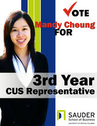 mandy cheung for cus 3rd year rep mandy cheung due to safety hazards candidates are not allowed to be handing out flyers as part of their campaign apparently students slip on them