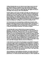 memories of childhood essay