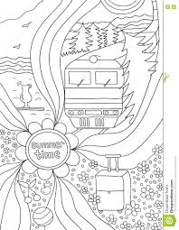 Small Picture Time To Relax Coloring Page For Adults Anti stress Stock Vector
