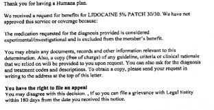 kathynieder family practice page  copy from denial letter