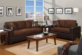 Two Loveseat Living Room Two Tone Leather Living Room Furniture Living Room Design Ideas