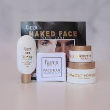 Hasil carian imej untuk FARRA BEAUTY: naked face SKINCARE