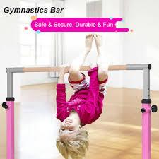 Gymax <b>Adjustable Steel Horizontal</b> Training Bar Practice ...
