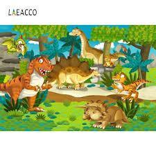 <b>Laeacco</b> Jurassic <b>Dinosaur</b> Park Birthday Party Baby <b>Cartoon</b> ...