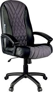 <b>Кресло руководителя Helmi HL-E85</b> Graphite, экокожа, черный ...