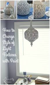 how to change style of light fixtures with paint plumdoodlescom amelie distressed chandelier perfect lighting