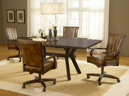 Dining Room Chairs With Arms And Casters Antique Dining Room Chairs Oak Oak Dining Room Set Is Also A Kind