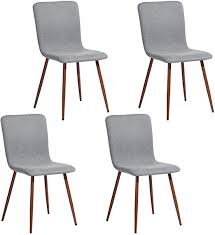FurnitureR 4 Pcs Dining Chair Unique Style Fabric ... - Amazon.com