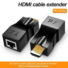 <b>Leehur</b> HDMI Extender 4k RJ45 יציאות <b>1080P HD</b> רשת HDMI הארכת ...