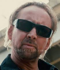 Nicholas Cage stars in the upcoming 3D movie Drive Angry, wearing a pair of black Oakley Fuel Cell sunglasses with polished black frame. - Oakley-Fuel-Cell-Nicholas-Cage-Drive-Angry-2