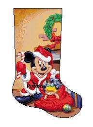 <b>Mickey</b> Mouse Christmas Stocking. Cross Stitch Kit.