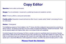 eric minton  writer editor  the editorzoo like sign of copy editor as species