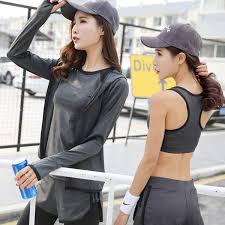 Female sports casual wear yoga yoga <b>morning run fast drying</b> mesh ...