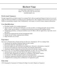 professional resume objectives samples   livecareeraccounting clerk resume objectives resume sample