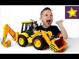 Машины <b>Bruder</b> Большой Экскаватор Погрузчик JCB <b>Bruder</b> Toys ...