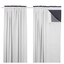 glansnva curtain liners 1 pair light gray length 94 width 56 bnib ikea oleby wardrobe drawer