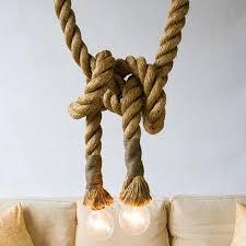 loft industrial toronto manila 3m rope ceiling lights chandeliers rustic vintage hemp rope lightchina cheap rustic lighting