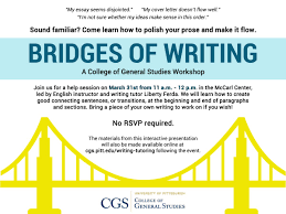 news events college of general studies the materials from this interactive presentation will also be made available online at cgs pitt edu writing tutoring after the event