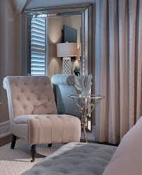 in a corner of the master bedroom a shingle chair and small side table adds comfort to the space note light reflectance generated by placement of the bedroomalluring members mark leather executive chair