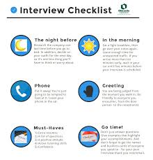 interview checklist infographic oldcastlecareers