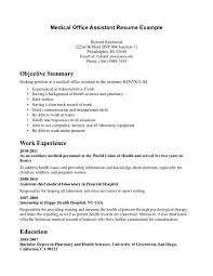 good medical assistant resume cipanewsletter cover letter example of a medical assistant resume example of