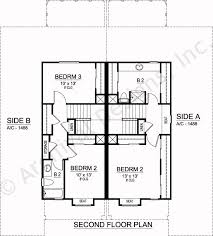 Sanborn Duplex House Plan   Home Plans By Archival DesignsSanborn Duplex   House Plan   Commercial   Second Floor