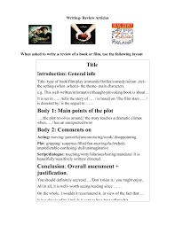 Book Review Guidelines Joan Reeves