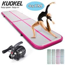 <b>KUOKEL 4m Inflatable Gymnastic</b> Mat With Electric Air Pump ...