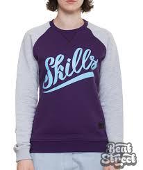 <b>Толстовка SKILLS</b> W Script Logo 3 Crewneck - фиолетовая ...