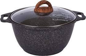 <b>Кастрюля Kukmara 3 л</b> темно-серый Granit ultra с мраморным ...