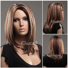 Hair Style Highlights 19 straight highlights medium hairstyle 100 kanekalon fiber high 1404 by wearticles.com