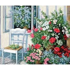Cross Stitch <b>Kit</b> Flower terrace DIY <b>Luca</b>-<b>s kit</b> Modern Cross stitch <b>kit</b> ...