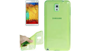 <b>Чехол</b> для <b>Samsung Galaxy</b> Note III однотонный (ТПУ,зеленый)