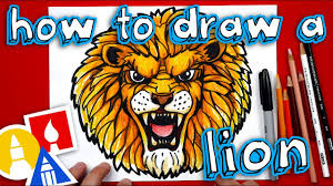 How To Draw A Realistic <b>Lion</b> - YouTube