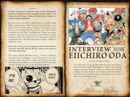 one piece creator talks motivation inspiration in interview click on the images to see them in a larger full size