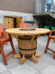 wine barrel table my husband just finished making alpine wine design outdoor finish wine barrel