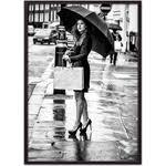 <b>Постер в рамке Дом</b> Корлеоне Девушка под зонтом 50x70 см ...
