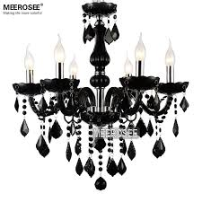 small crystal chandelier lamp fixture black crystal light candle glass chandelier lighting luster living room mds01 black crystal chandelier lighting