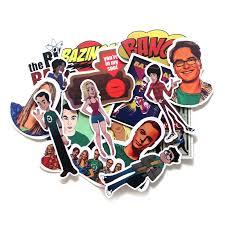 <b>17 Pcs</b>/set Big Bang Theory Pvc Stickers Decal For Laptop Luggage ...