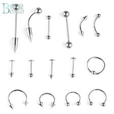 2019 <b>BOAKO</b> Stainless <b>Steel</b> Fashion <b>Piercing</b> Set Eyebrow Bar Lip ...