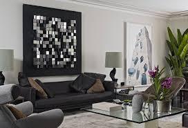 images black sofas living room design